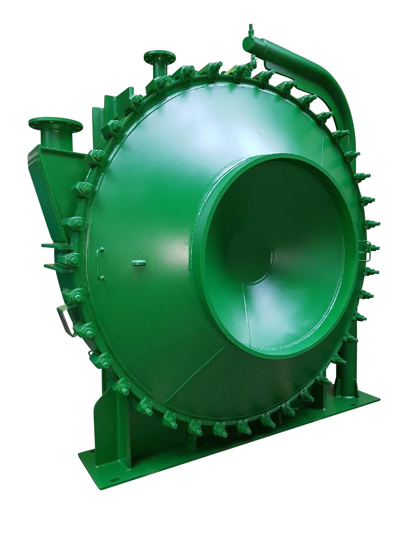 Sludge spiral plate heat exchanger with customized design