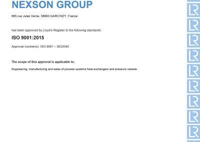 Certificat ISO 9001 - 2020 EN