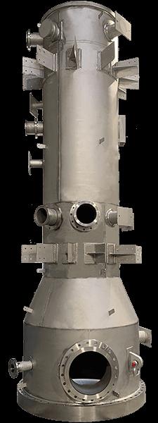 spiral heat exchanger column