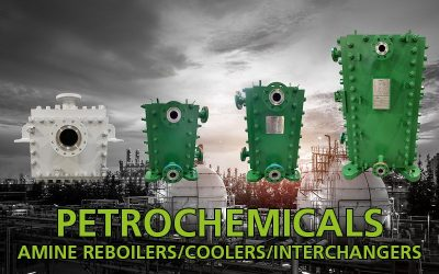 Amine heat exchangers for petrochemical industry