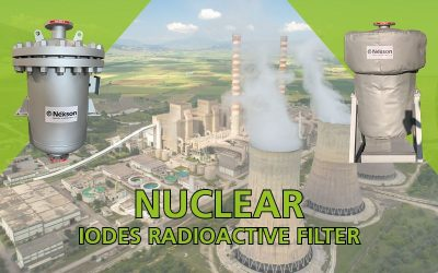 Iodes radioactive filter for nuclear industry