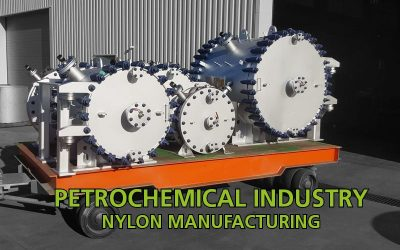 Spiral heat exchangers for nylon manufacturing