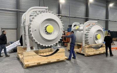 Spent acid coolers for mining industry