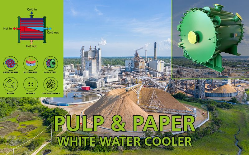White water coolers for pulp&paper industry